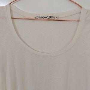 Michael Stars Tops - Michael Stars Cream Front Tie Tee OS